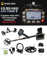 Golden Mask 5 Plus 23 cm-es fejjel